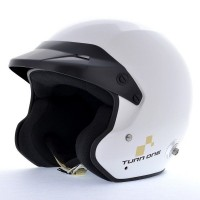 CASQUE JET TURN ONE HANS FIA 8859-2015 SNELL-SA2015 BLANC
